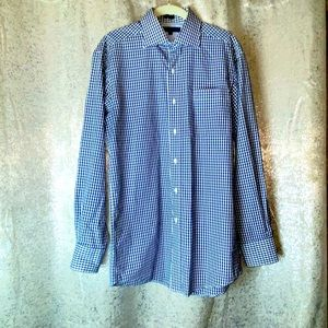Tommy Hilfiger button up down checkered top 14.5